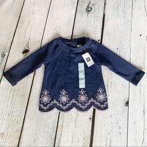 Bundle 3/$30🛍  Baby GAP Girls Navy Sweater